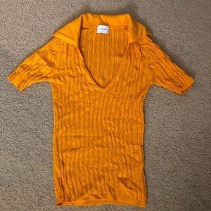 WILFRED Orange Collar Top